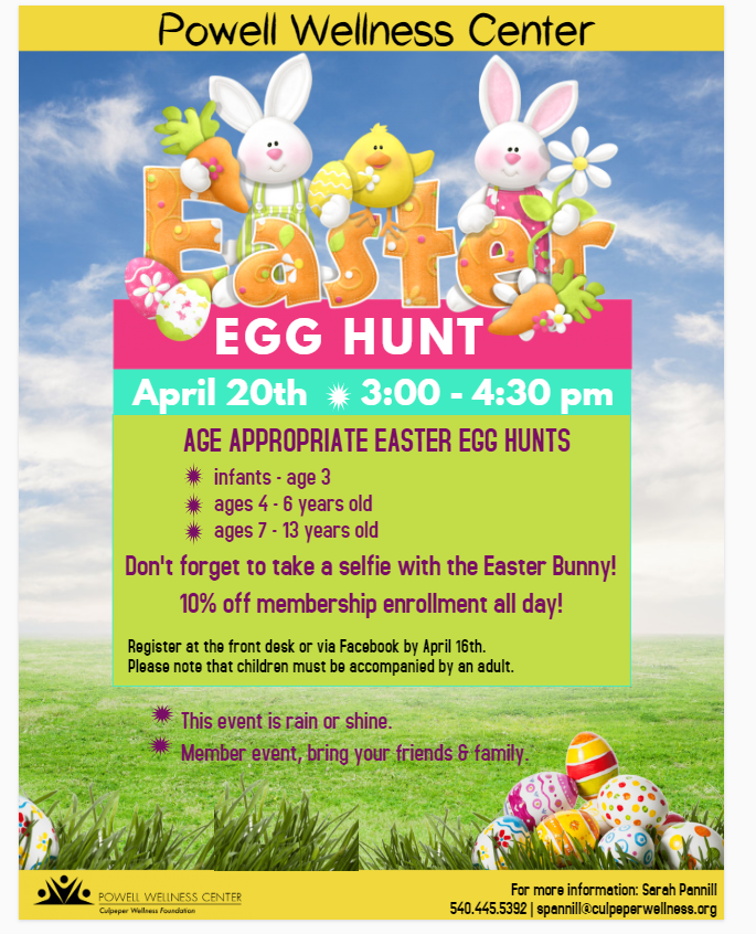 Easter egg hunt April 20, 2019 | Welcome to Powell Wellness